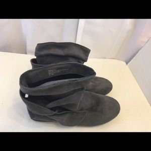 Rampage ankle boots gray suede 8.5